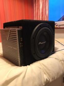 Pioneer sub & kenwood amp