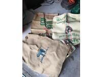 Hessian coffee sacks