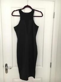 AX Paris black plunge midi dress size 12 with tags