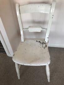 2 oak style school chairs