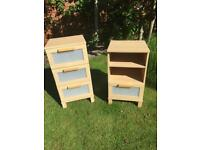 Pair of small IKEA cabinets