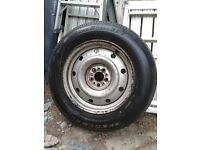 AS NEW COMMERCIAL VAN TYRE 205/65/15C ON PEUGEOT EXPERT ,CITROEN DISPATCH ,FIAT SCUDO WHEEL.