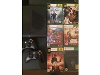 Xbox 360 E - 250gb with 2 controllers and 6 games