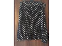 Black spotted Laura Ashley skirt size 20