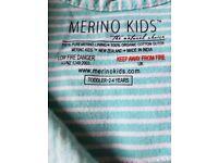 Merino kids organic sleeping bag 2-4 years