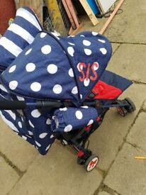 Cosatto double stroller