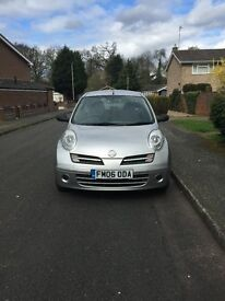 NISSAN MICRA - 1.2 L - SILVER - IN GOOD CONDITION - 2006 REG - 12 MONTHS MOT- ONLY £795