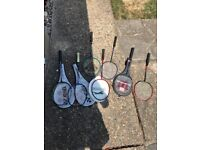 BADMINGTON RACKETS SELECTION OF HARDLY USED RACKETS CHEAP