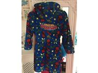 Lovely boys Spider-Man dressing gown /robe age 4-5 hardly worn
