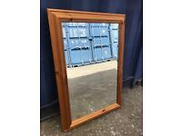 Bevel edge pine mirror FREE DELIVERY PLYMOUTH AREA