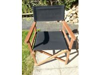 Director's chairs, black, excellent used condition. £20.00 each.