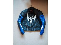 Hein Gericke leather motorcycle jacket and trousers