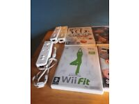 Wii and fit board and games