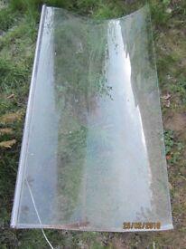 P-shaped bath glass shower screen and hinge 140 cm x 75 cm (inc. hinge width)