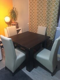Dining table plus 4 chairs