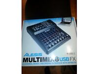 Alesis MultiMix 8 USB 8 Channel Mixer - As New Boxed