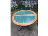 Tiled topped table and 4 chairs