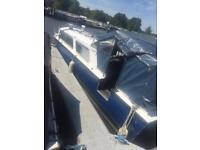 27 foot cabin cruiser canal river boat
