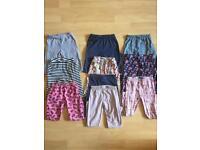 Ten pairs of girls 3-4 leggings