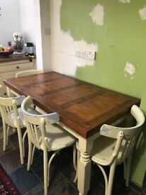 Mexican solid oak table