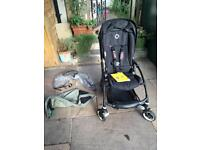Bugaboo Bee Plus with all black frame