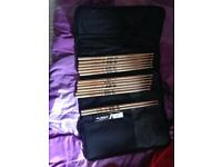 Vic Firth sticks and two stick bags