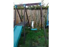 Tp swing and slide from earley learning centre slide has crack shown in picture hence price £40