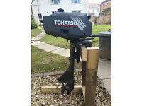 Tohatsu 2.5 hp 2-stroke short shaft outboard motor