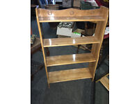 Appealing Stylish Arts and Crafts Beech Open Bookcase