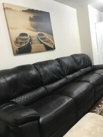 5 seater leather Sofa from Harveys