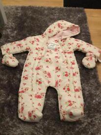 Rock a bye baby boutique snowsuit 3-6 months