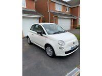 Fiat 500, 2014, White with Italian Stripe, Manual, 1242 (cc), 3 doors