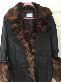 Dark brown Italian Leather Coat