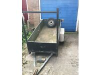 Single Axel Unbraked trailer with ladder rack for sale spare wheel included