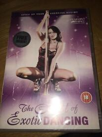 Brand new 'Art of Exotic Dancing' DVD still in wrapping