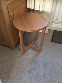 Solid oak table side coffee table