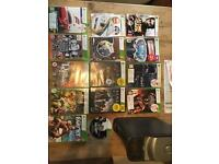 XBOX 360 250GB and 14 games 2 controllers
