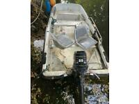 Dory boat with trailer