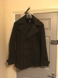 Men's Large Dark Green Pea Coat