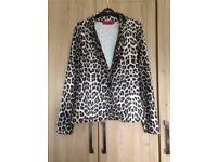 Ladies leopard print blazer