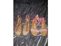 Womens sandals bundle size 6