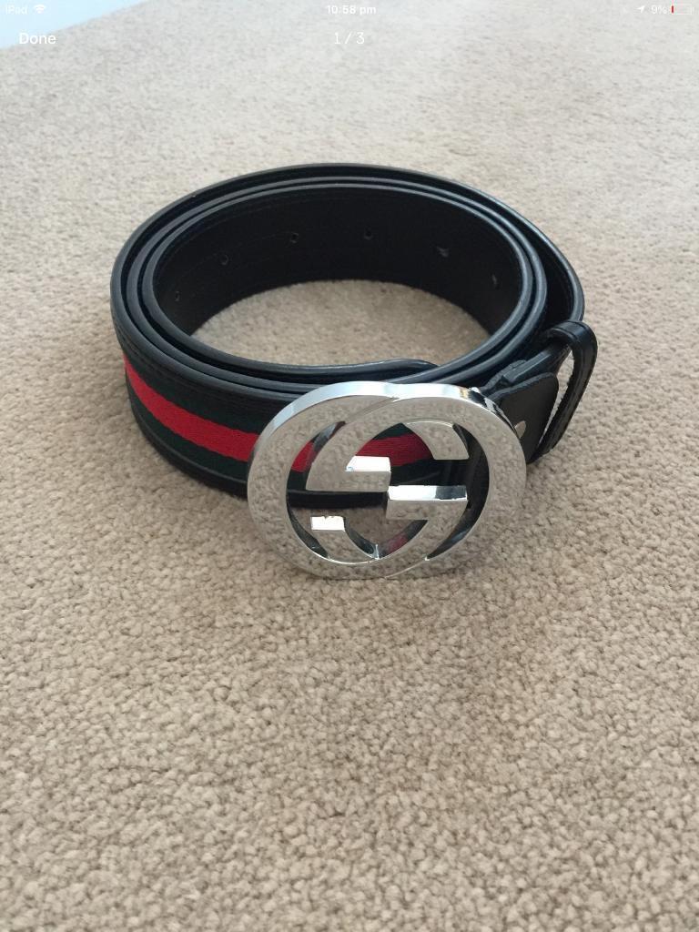 80a5ec2dda3 Men s Gucci belt real with barcode