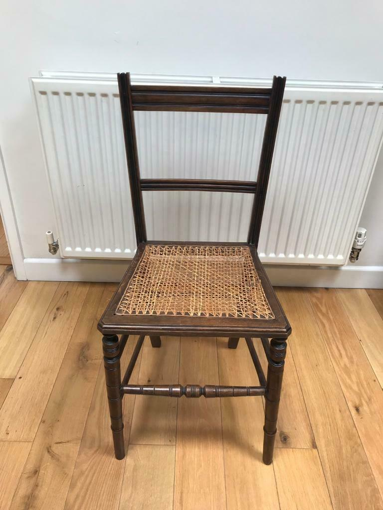 Small Wooden Chair With Wicker Seat In Crowthorne Berkshire Gumtree