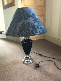 Large black and silver lamp