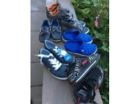 Six pairs boys shoes/trainers/crocs