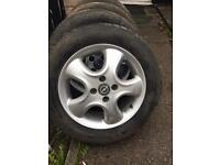 "Vauxhall 15"" Alloy wheels and tyres"