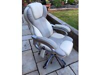 Cream Leather 6 Speed Massage Chair - 2 Months Old