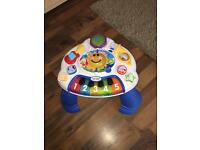 Baby's stand up activity table