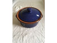 Oven to Table Small Blue Casserole Dish/Cooking Pot Terracotta New - Unused
