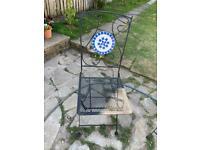 4 x metal garden chairs
